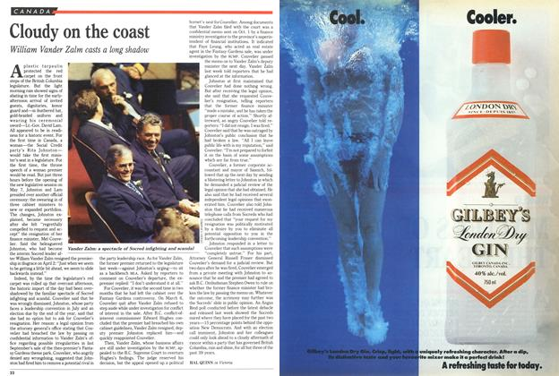 Article Preview: Cloudy on the coast, May 1991 | Maclean's