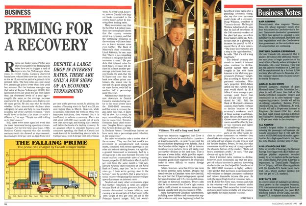 Article Preview: PRIMING FOR A RECOVERY, May 1991 | Maclean's
