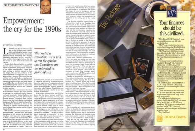 Article Preview: Empowerment: the cry for the 1990s, May 1991 | Maclean's
