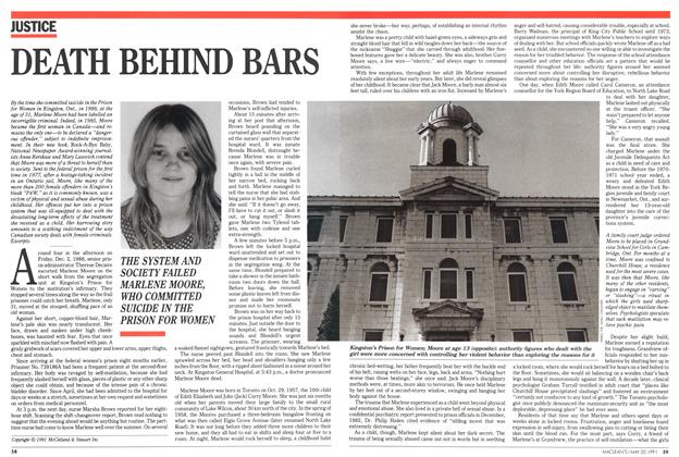 Article Preview: DEATH BEHIND BARS, May 1991 | Maclean's