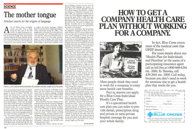 Article Preview: The mother tongue, May 1991 | Maclean's