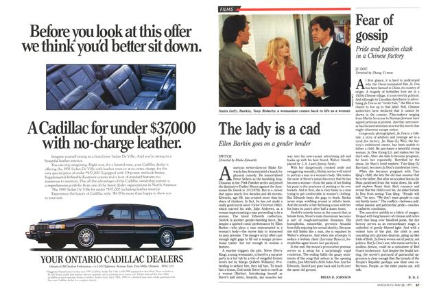 Article Preview: The lady is a cad, May 1991 | Maclean's