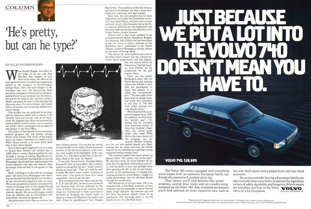 Article Preview: 'He's pretty, but can he type?', May 1991 | Maclean's