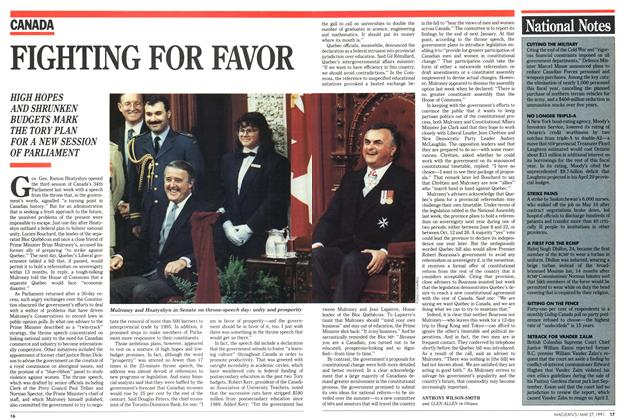 Article Preview: FIGHTING FOR FAVOR, May 1991 | Maclean's
