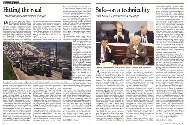 Article Preview: Safe—on a technicality, May 1991 | Maclean's