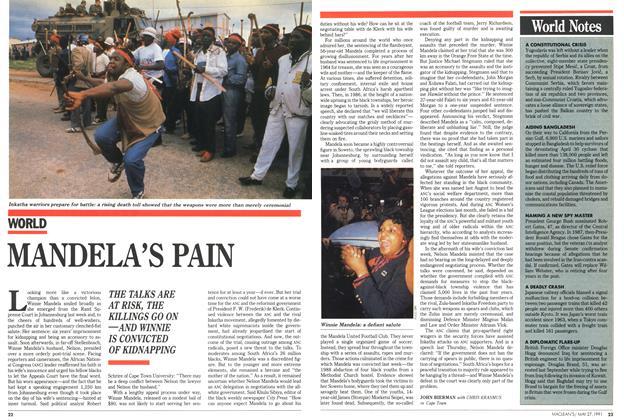 Article Preview: MANDELA'S PAIN, May 1991 | Maclean's