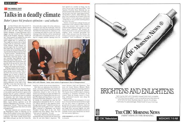 Article Preview: Talks in a deadly climate, May 1991 | Maclean's