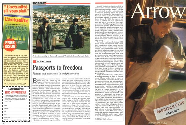 Article Preview: Passports to freedom, May 1991 | Maclean's