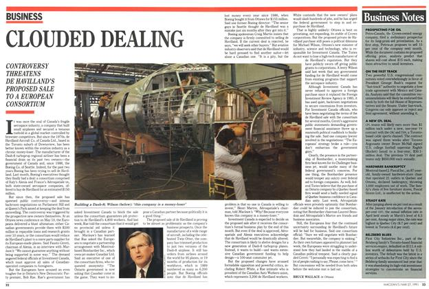 Article Preview: CLOUDED DEALING, May 1991 | Maclean's