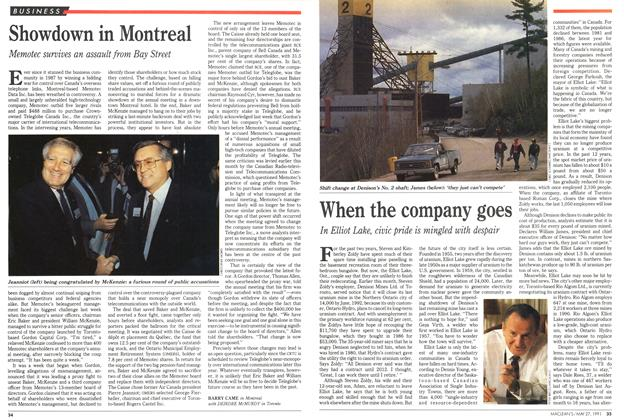 Article Preview: When the company goes, May 1991 | Maclean's
