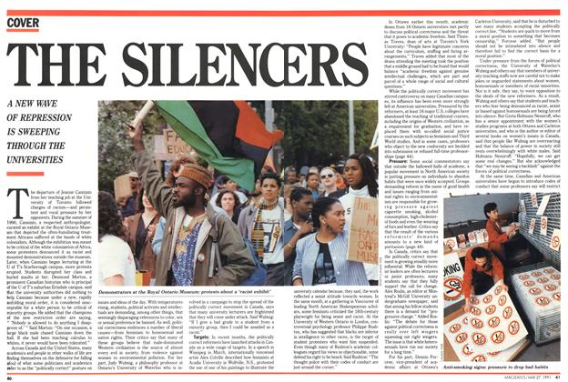 Article Preview: THE SILENCERS, May 1991 | Maclean's