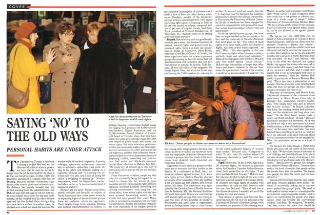 Article Preview: SAYING 'NO' TO THE OLD WAYS, May 1991 | Maclean's