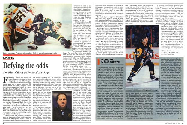 Article Preview: FACING OFF IN THE COURTS, May 1991 | Maclean's