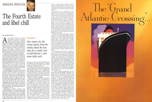 Article Preview: The Fourth Estate and libel chill, May 1991 | Maclean's