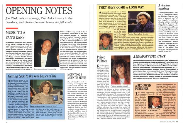 Article Preview: OPENING NOTES, May 1991 | Maclean's