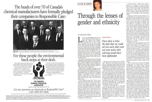 Article Preview: Through the lenses of gender and ethnicity, May 1991 | Maclean's