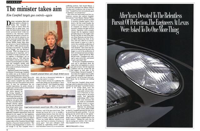 Article Preview: The minister takes aim, June 1991 | Maclean's
