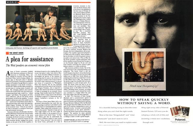 Article Preview: A plea for assistance, June 1991 | Maclean's