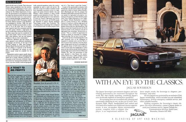 Article Preview: A TICKET TO BIG PROFITS, June 1991   Maclean's