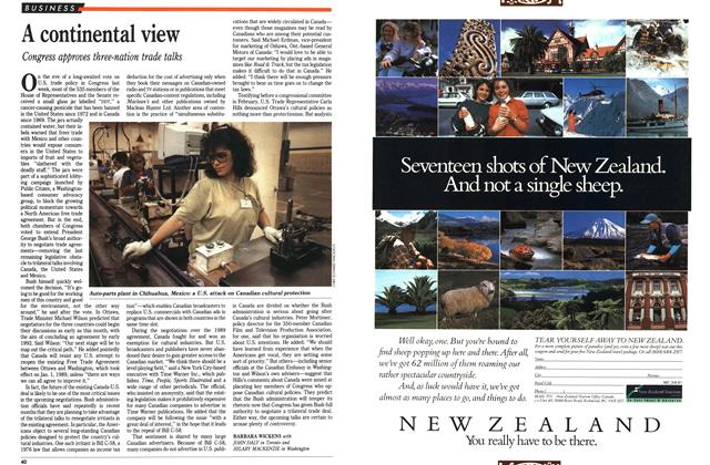 Article Preview: A continental view, June 1991 | Maclean's