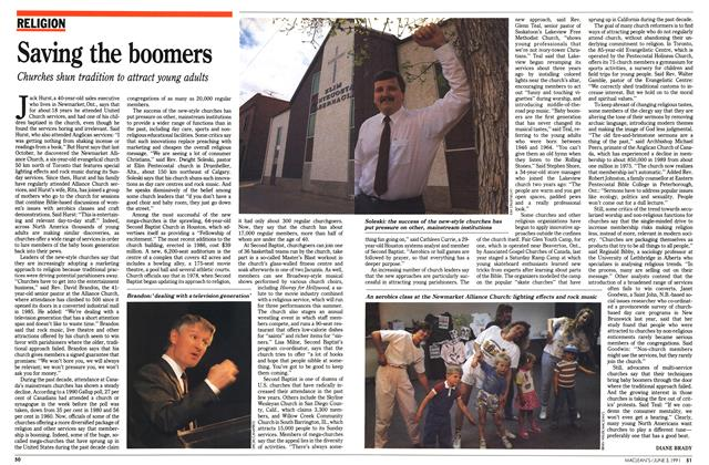 Article Preview: Saving the boomers, June 1991 | Maclean's
