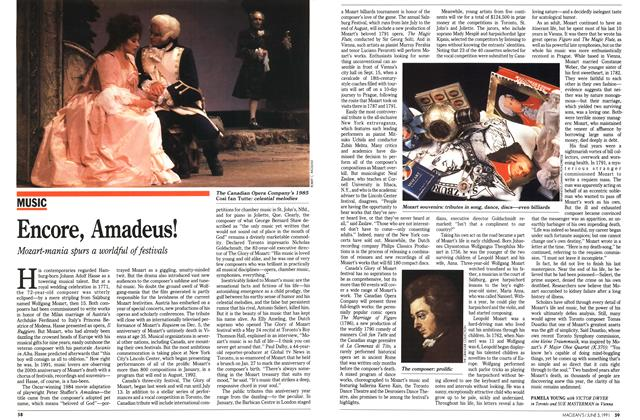 Article Preview: Encore, Amadeus!, June 1991 | Maclean's