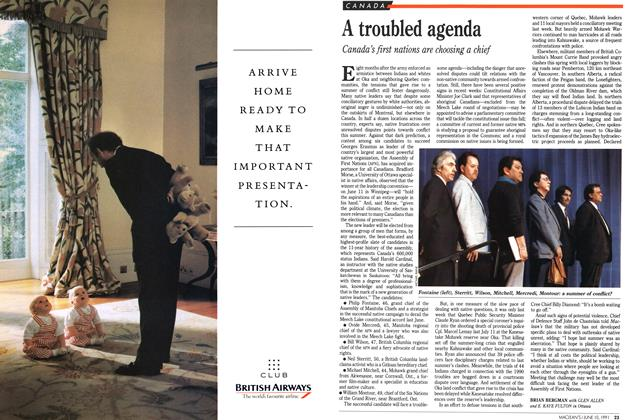 Article Preview: A troubled agenda, June 1991 | Maclean's