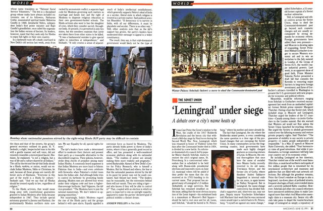 Article Preview: 'Leningrad' under siege, June 1991 | Maclean's