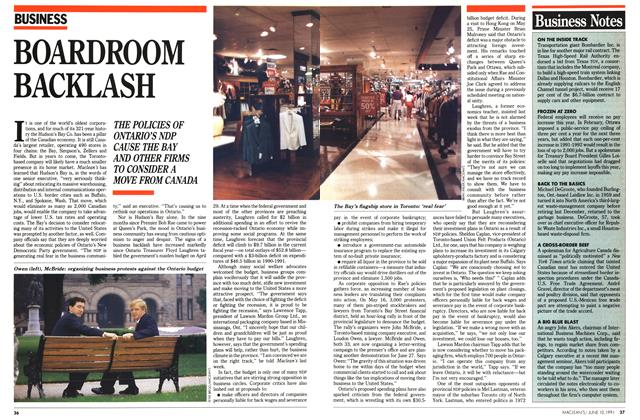 Article Preview: BOARDROOM BACKLASH, June 1991 | Maclean's