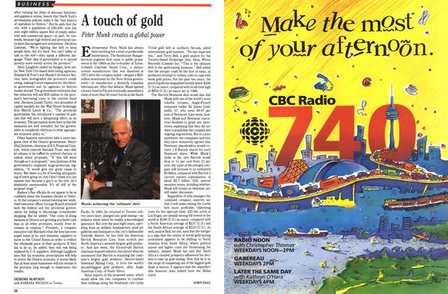 Article Preview: A touch of gold, June 1991 | Maclean's