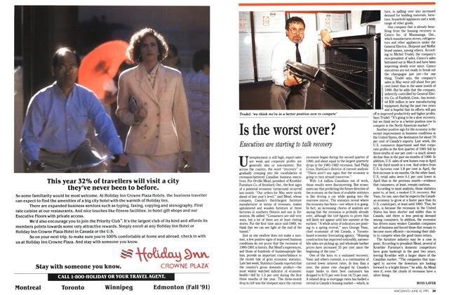 Article Preview: Is the worst over?, June 1991 | Maclean's