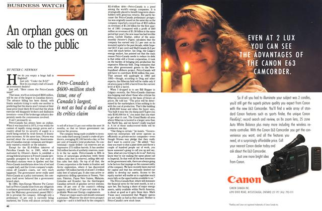 Article Preview: An orphan goes on sale to the public, June 1991 | Maclean's