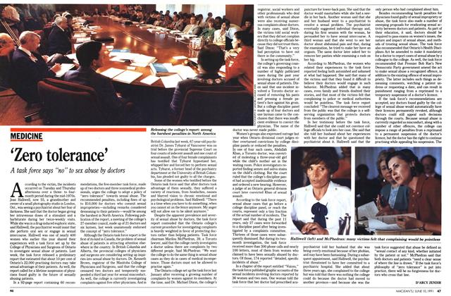 Article Preview: 'Zero tolerance', June 1991 | Maclean's