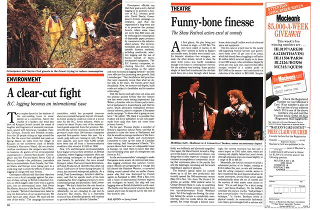 Article Preview: Funny-bone finesse, June 1991 | Maclean's