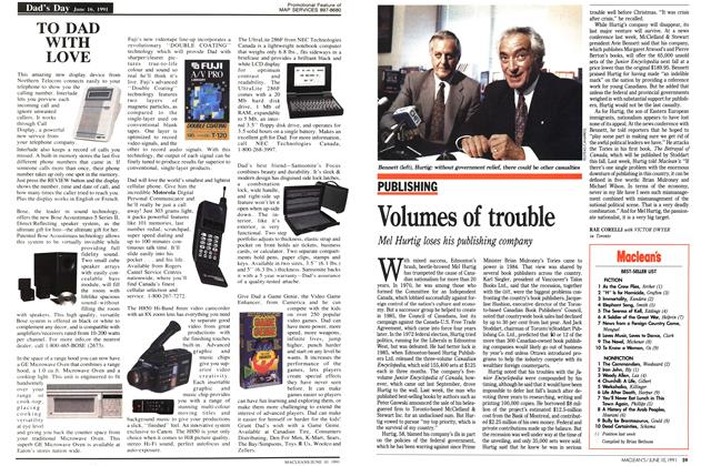Article Preview: Volumes of trouble, June 1991 | Maclean's
