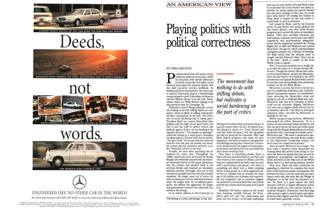 Article Preview: Playing politics with political correctness, June 1991 | Maclean's