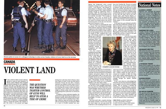 Article Preview: VIOLENT LAND, June 1991 | Maclean's
