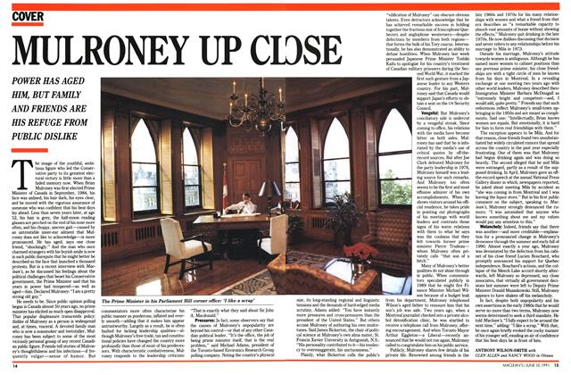 Article Preview: MULRONEY UP CLOSE, June 1991 | Maclean's