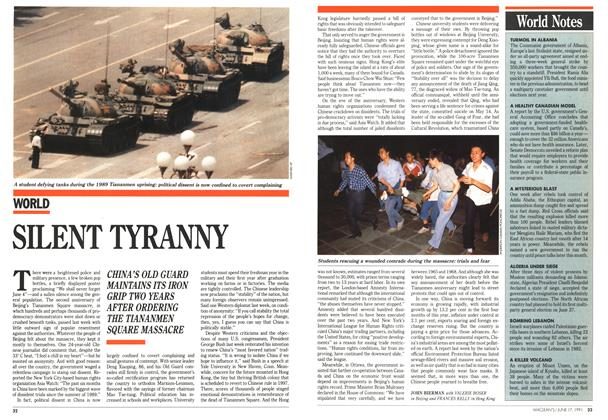 Article Preview: SILENT TYRANNY, June 1991 | Maclean's