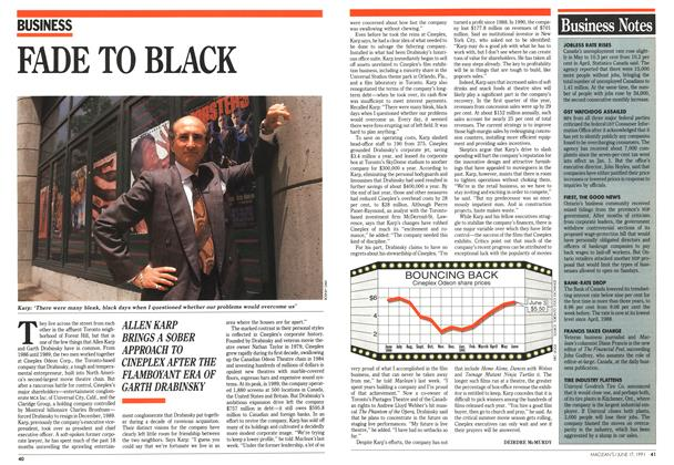 Article Preview: FADE TO BLACK, June 1991 | Maclean's