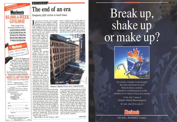 Article Preview: The end of an era, June 1991 | Maclean's