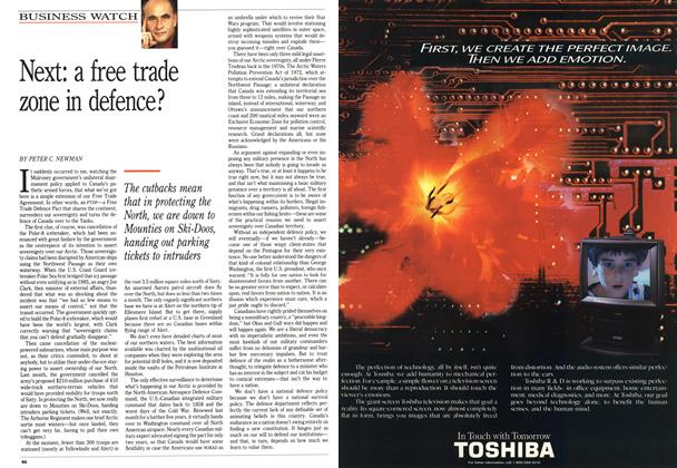Article Preview: Next: a free trade zone in defence?, June 1991 | Maclean's