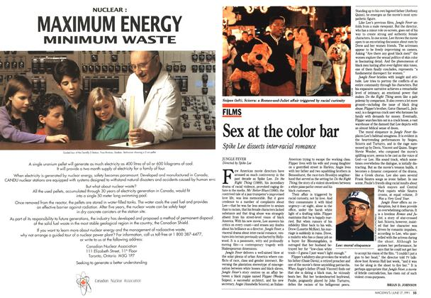 Article Preview: Sex at the color bar, June 1991 | Maclean's