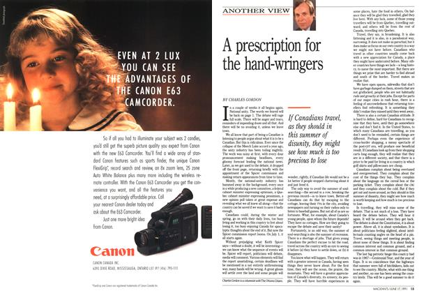 Article Preview: A prescription for the hand-wringers, June 1991 | Maclean's