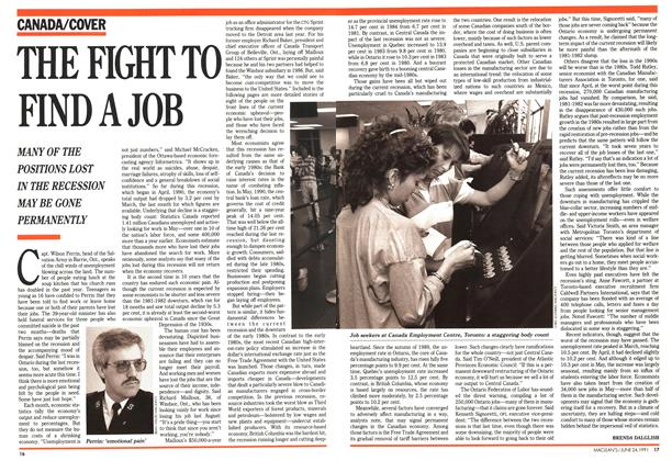 Article Preview: THE FIGHT TO FIND A JOB, June 1991 | Maclean's