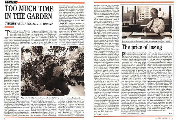 Article Preview: TOO MUCH TIME IN THE GARDEN, June 1991 | Maclean's