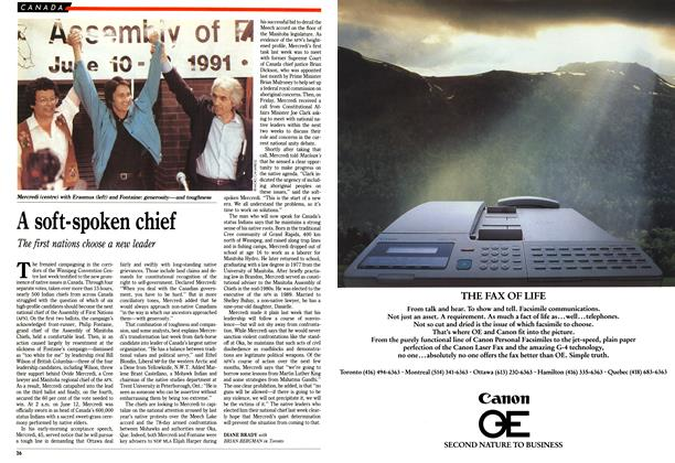 Article Preview: A soft-spoken chief, June 1991 | Maclean's