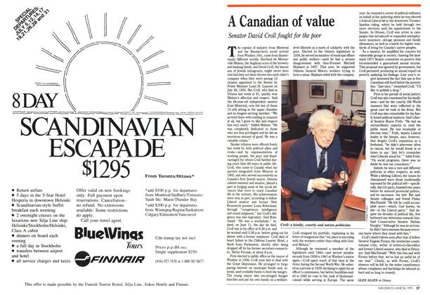 Article Preview: A Canadian of value, June 1991   Maclean's