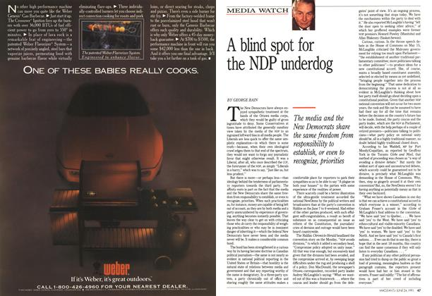 Article Preview: A blind spot for the NDP underdog, June 1991 | Maclean's