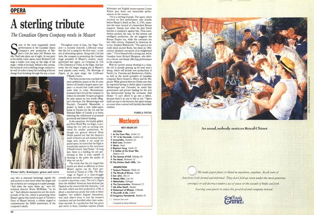 Article Preview: A sterling tribute, June 1991 | Maclean's